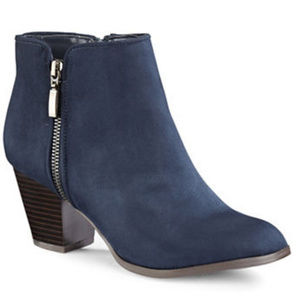 NWT Style & Co. Jamil Raisin Zip Ankle Booties